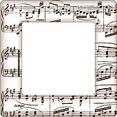 music notes picture frame - Music Picture Frame