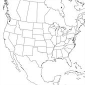 Drawing Of Blank United States Map Lower K Search - Map of us lower 48 states
