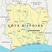 Clip Art of Burkina Faso Political Map k23484497 Search Clipart