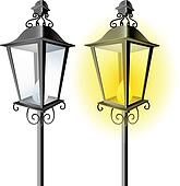 Clip Art Of Old Vintage Street Lamp K12039719 Search