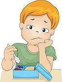 Clipart of Boy without Appetite k15372371 - Search Clip ...