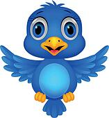 Clipart of Cute blue bird cartoon k14799713 - Search Clip ...
