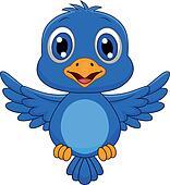 Clipart of Cute blue bird cartoon flying k13456153 ...