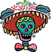 stock illustration of a dia de los muertos or day of the dead style rh fotosearch com day of the dead clipart free day of the dead wedding clipart
