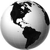 Picture of atlas north america map globe americas mr4007