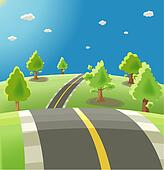 Stock Illustration of rolling hills and mountains szo0376 ...