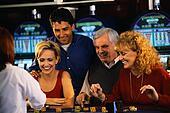 Couples Gambling in Casino