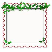 Holly scrapbook frame Clip Art