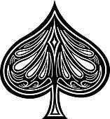 fancy spade card  Spade Clip Art Clip Art | k7 | Fotosearch
