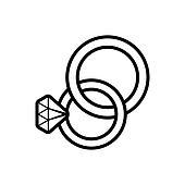 Wedding Rings Clip Art K24792807