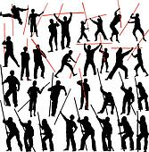 Fighting Clipart K3089691 Fotosearch