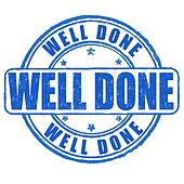 Well done stamp Clipart | k18967455 | Fotosearch (170 x 170 Pixel)