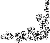 Clipart Barock Muster Vignette K4298511 Suche Clip Art