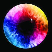 Arc-en-ciel, couleur, oeil, pupille, macro., vecteur Clipart ...
