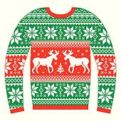Ugly Christmas Sweater Clipart.Ugly Christmas Jumper Or Sweater Clip Art