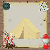 clip art of rustic camping party invitation k8823759 search