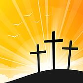 Easter Style Three Crosses Clip Art K8835129 Fotosearch