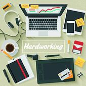 clip art of flat illustration hardworking k22167477 search