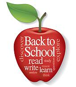 Back to School Apple Word Cloud Clip Art | k12282887 | Fotosearch