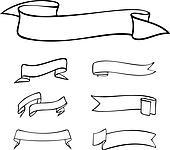 Dessin Ruban clipart - rubans, et, bannières k11839785 - recherchez des clip arts