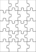 clipart of 20 piece blank puzzle k13478011 search clip art