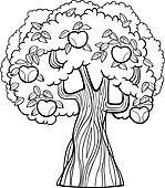 Clip Art Apfelbaum Karikatur Für Ausmalbilder K12904049 Suche