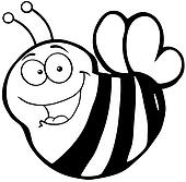 Clip Art Of Happy Bee Cartoon Mascot Character K13721787 Search