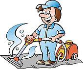 Illustration of a Carpet Cleaner Clipart | k12817681 ...